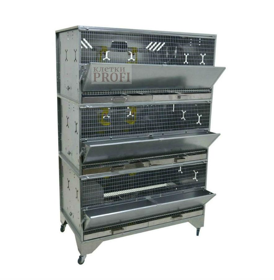 Клетки Профи 1 - Клетка для бройлеров Профессионал 3-12 Премиум.