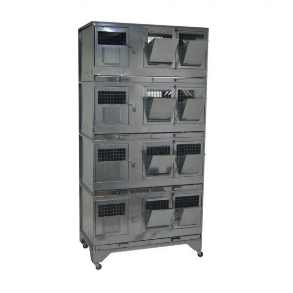 Картинка 1 - Клетка для кроликов с маточным отделением Профессионал 95-КМ-4 Премиум.