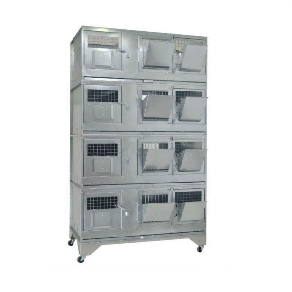 Клетки Профи 1 - Клетка для кроликов с маточным отделением Профессионал 95-КМ-4 Стандарт.