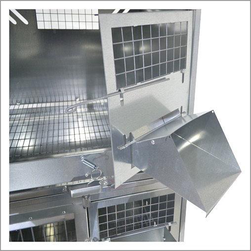 Клетки Профи 3 - Клетка для кроликов с маточным отделением Профессионал 95-КМ-4 Премиум.