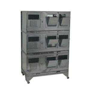 Клетки Профи 12 - Клетка для кроликов с маточным отделением Профессионал 95-КМ-3 Премиум.
