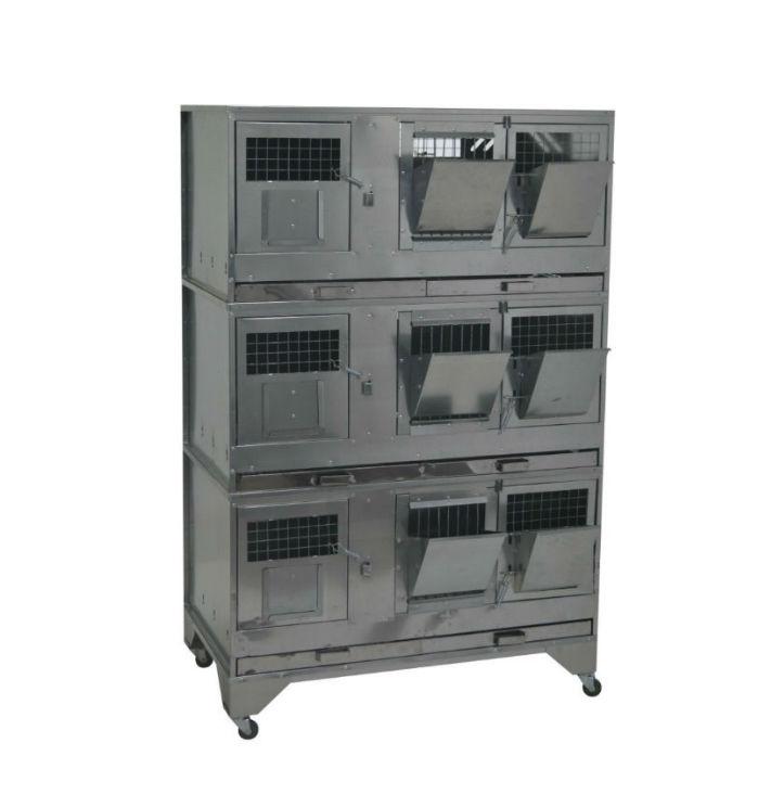 Клетки Профи 1 - Клетка для кроликов с маточным отделением Профессионал 95-КМ-3 Премиум.