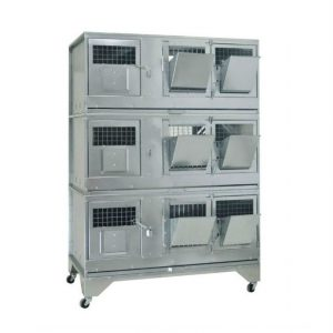 Клетки Профи 12 - Клетка для кроликов с маточным отделением Профессионал 95-КМ-3 Стандарт.